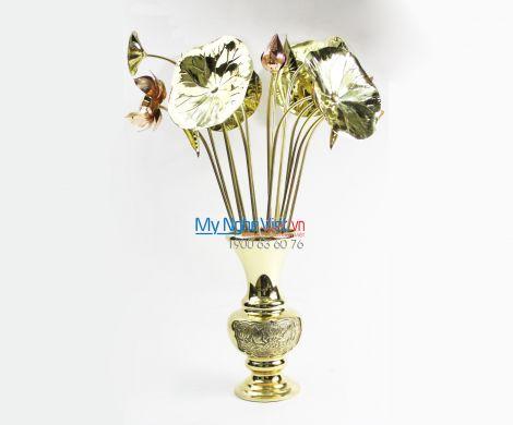 Bình hoa thờ cúng đồng MNV-DD33/30