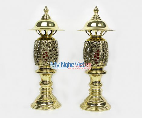 Đôi đèn điện - Bộ thờ cúng MNV-DD18
