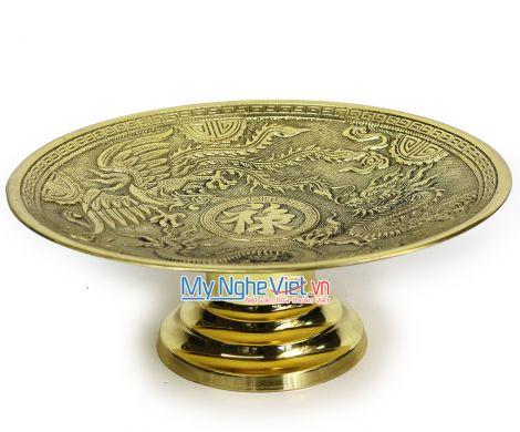 Mâm trưng hoa quả đồng - Bộ thờ cúng MNV-DD23