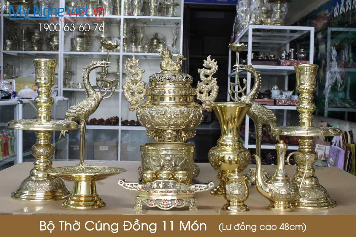 Bộ thờ cúng đồng 11 món